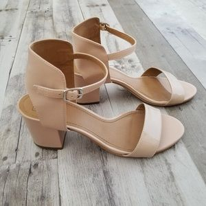 14th & Union Pink Ankle Strap Block Heels